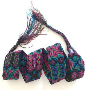 Accessories - Friendship Bracelet Style Macrame Handwoven Belt